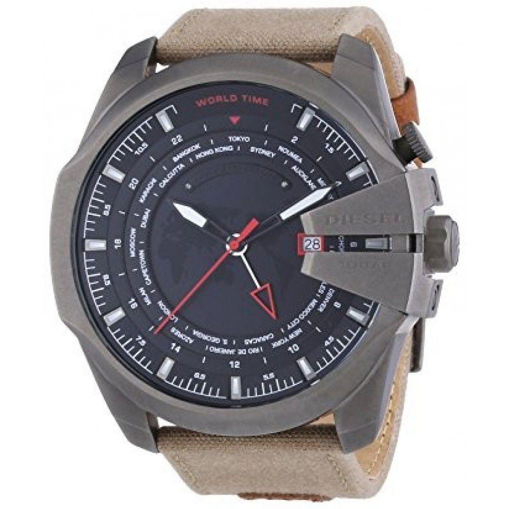 8455867f608 Relógio Masculino Diesel DZ4306 Couro Marrom - Mimports - Produtos e ...