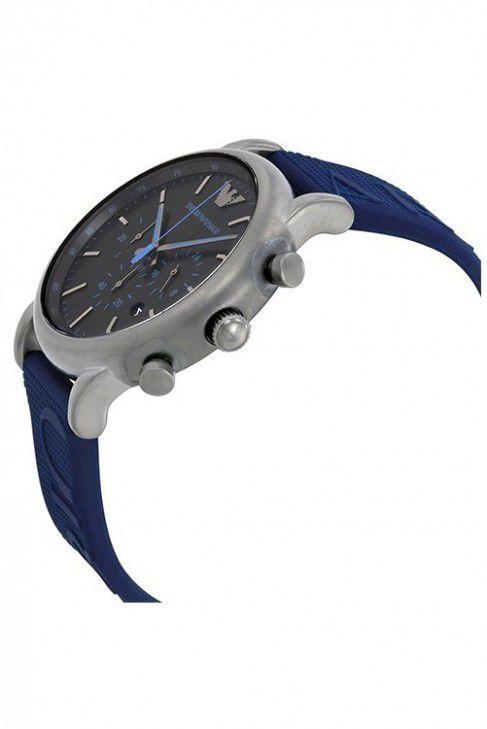 786b4a68215 ... Relógio Masculino Empório Armani AR11023 Pulseira Azul Fundo Preto -  Imagem 4