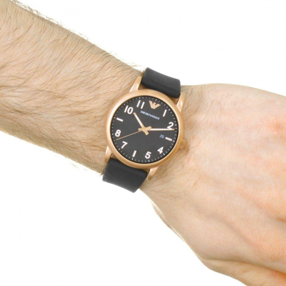 f88af69009d ... Relógio Masculino Empório Armani AR11097 Pulseira Preta Fundo Preto -  Imagem ...