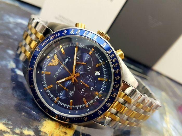 05c67b70766 Relógio Masculino Empório Armani AR6088 Fundo Azul - Mimports ...