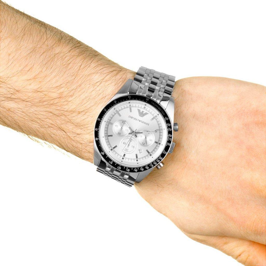 d85a30d2aaf Relógio masculino Empório Armani AR6073 Prata - Mimports - Produtos ...