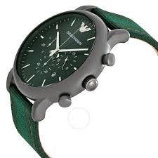 ada45a90dcc ... Relógio Masculino Empório Armani Ar1950 pulseira verde Fundo Verde -  Imagem ...