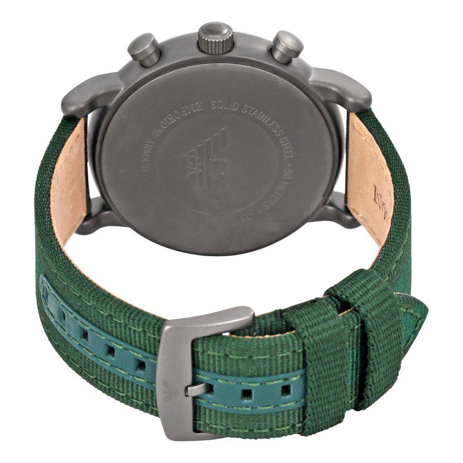 da772949b9e ... Relógio Masculino Empório Armani Ar1950 pulseira verde Fundo Verde -  Imagem 3
