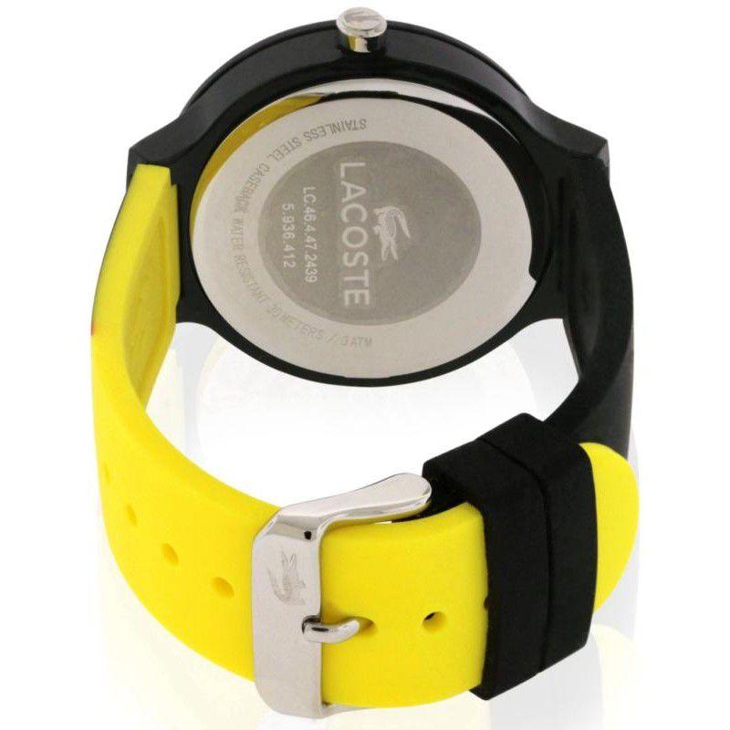 3341975e973 Relógio Masculino Lacoste 2020070 Preto e Amarelo - Mimports ...