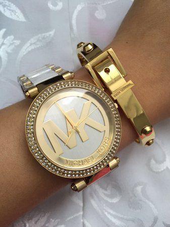 9485ba017fa0f Relógio Feminino Michael Kors MK6313 Dourado Cravejado - Mimports ...