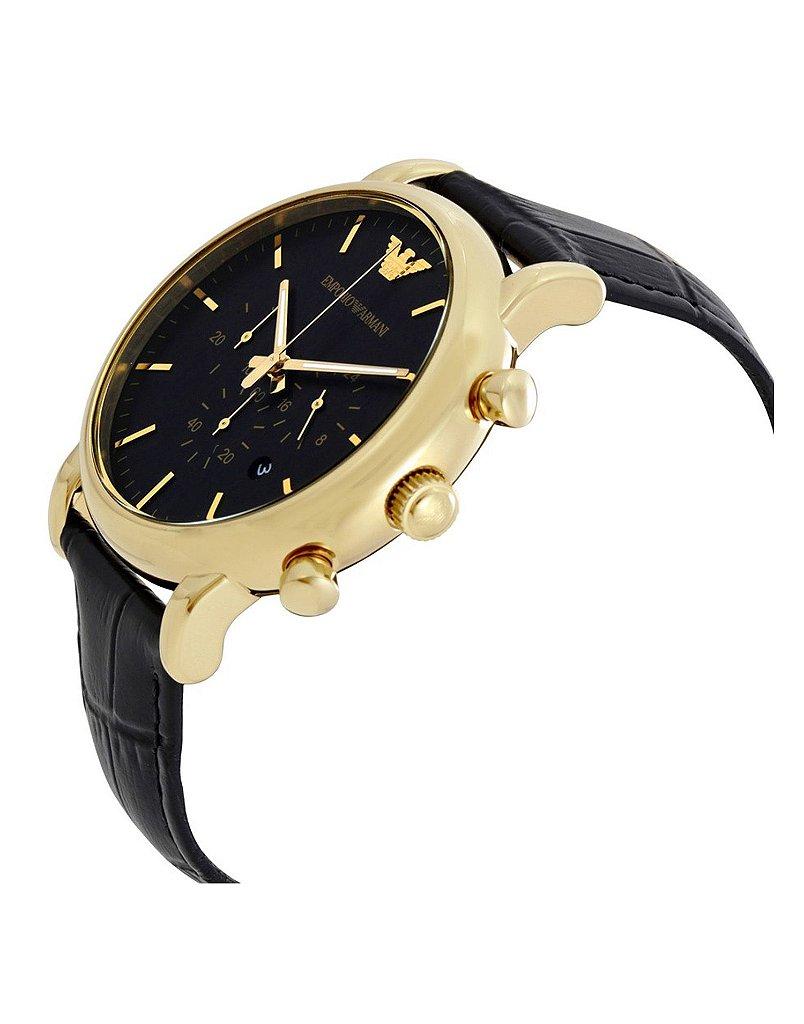 163686c4f4 ... Relógio Masculino Empório Armani AR1917 Couro Preto - Imagem ...