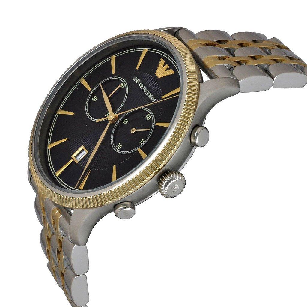 4096d9b5196 ... Relógio Masculino Empório Armani AR1847 Prata e dourado - Imagem 3 ...