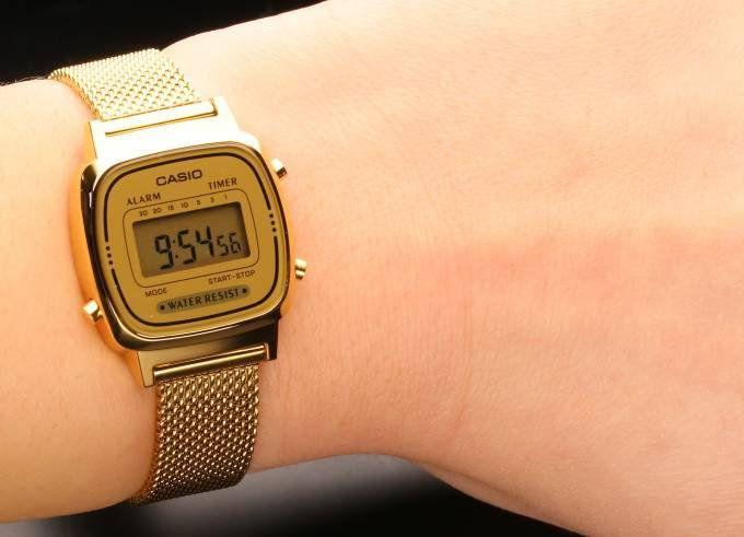 48c89cb49df Relógio Feminino Casio Modelo LA670WEMY-9 Dourado - Mimports ...