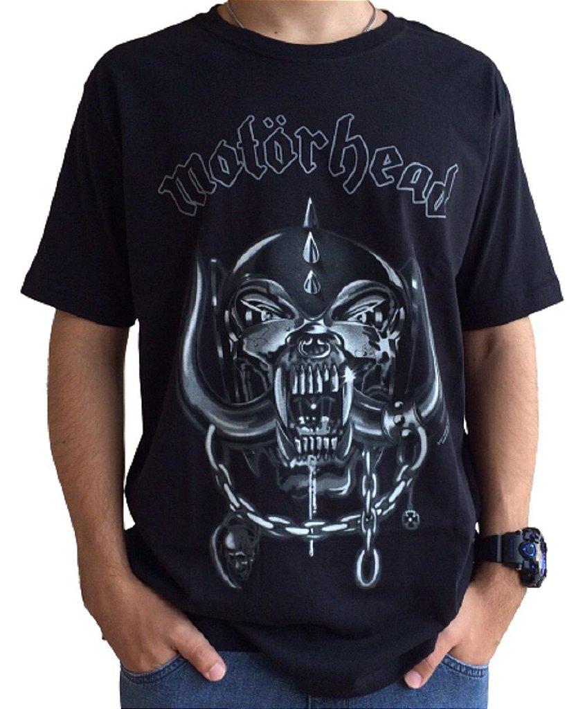Camiseta Motorhead Logo - Camiseta de banda - Masculina - 100% algodão