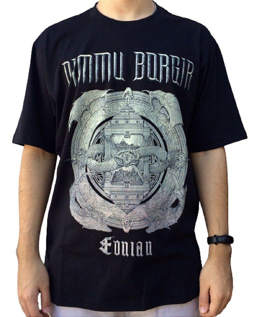 Camiseta Dimmu Borgir Eonian - Camiseta de banda - Masculina - 100% algodão