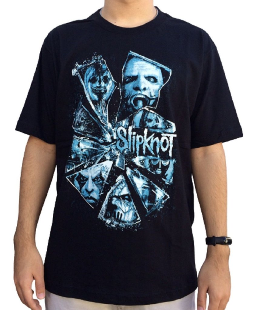 Camiseta Slipknot Broken Glass - Camiseta de banda - Masculina - 100% algodão