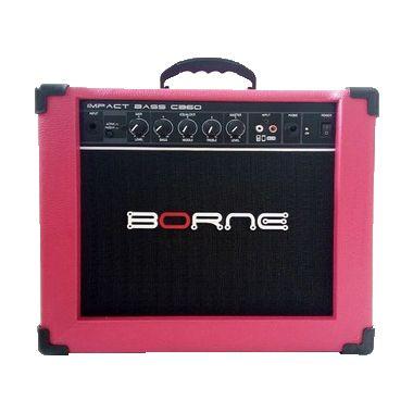 Amplificador Cubo Borne Cb60 20w Impact Bass Rosa Pink