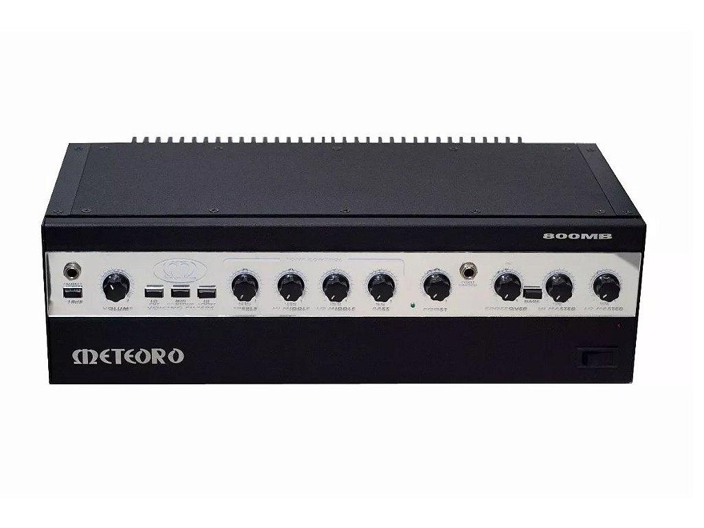 amplificador Cabeçote Meteoro 800Mb 400 Watts para Baixo