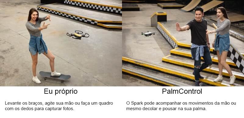 DJI SPARK, SPARK, DRONE SPARK, DRONE PORTÁTIL, PALM CONTROL