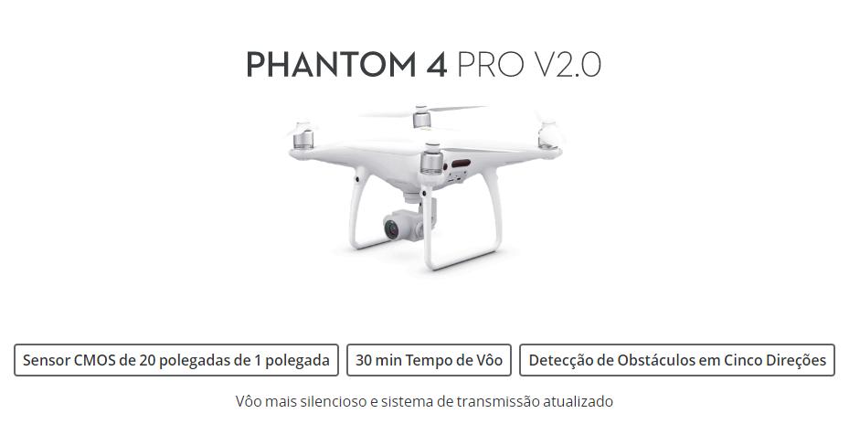 PHANTOM 4 PRO V2, PHANTOM 4 PRO V2.0, ESPECIFICAÇÕES