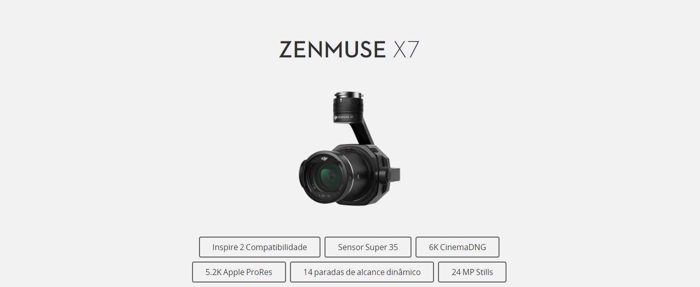 ZENMUSE X7 CARACTERÍSTICAS