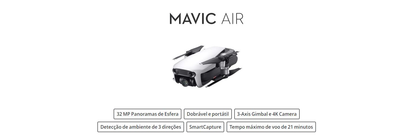 MAVIC, MAVIC AIR, CARACTERISTICAS
