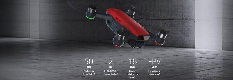 DJI SPARK, SPARK, DRONE SPARK, DRONE PORTÁTIL, DESEMPENHO