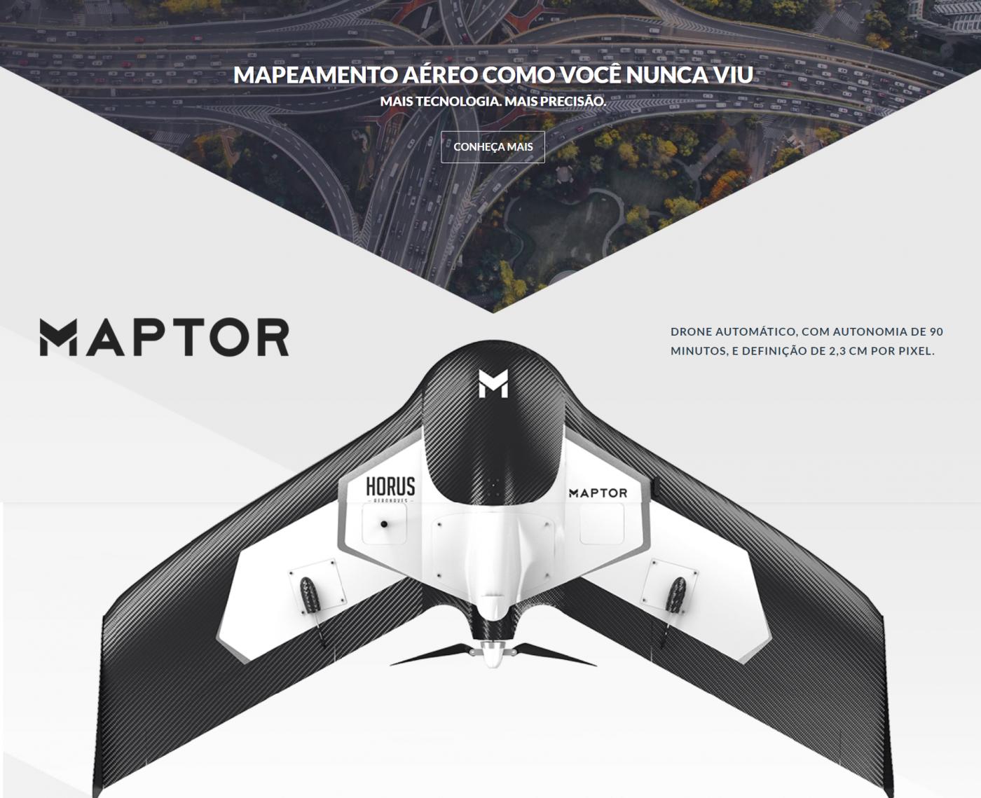MAPTOR, MAPTOR DRONE, DRONE ASA FIXA, ASA FIXA MAPTOR,