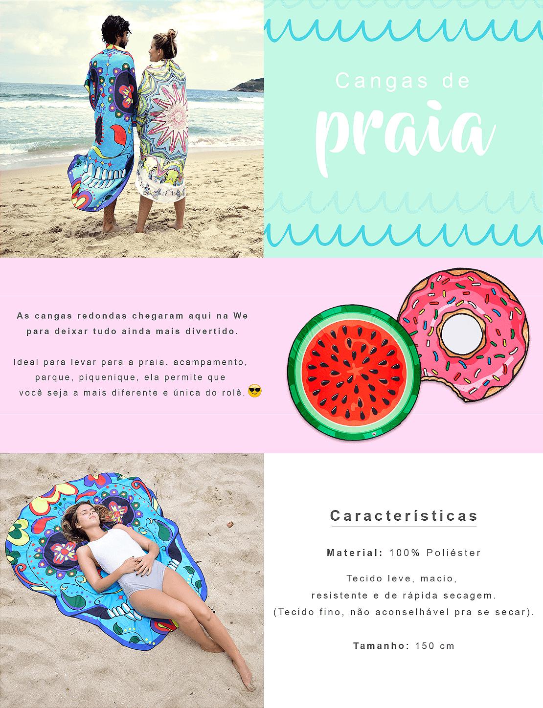 canga de praia redonda em formato de donuts