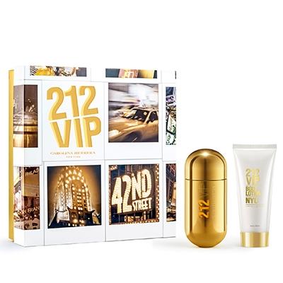 Kit Perfume 212 Vip EDP Feminino 80ml + Body lotion - Carolina Herrera