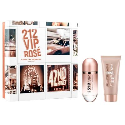 Kit Perfume 212 Vip rose EDP Feminino 80ml + Body lotion - Carolina Herrera