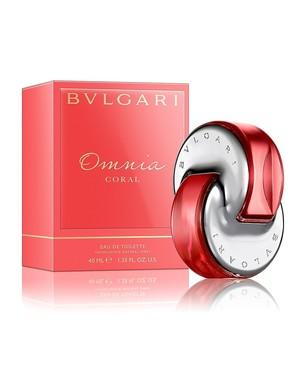 Perfume Omnia Coral Feminino Eau de Toilette Bvlgari frasco
