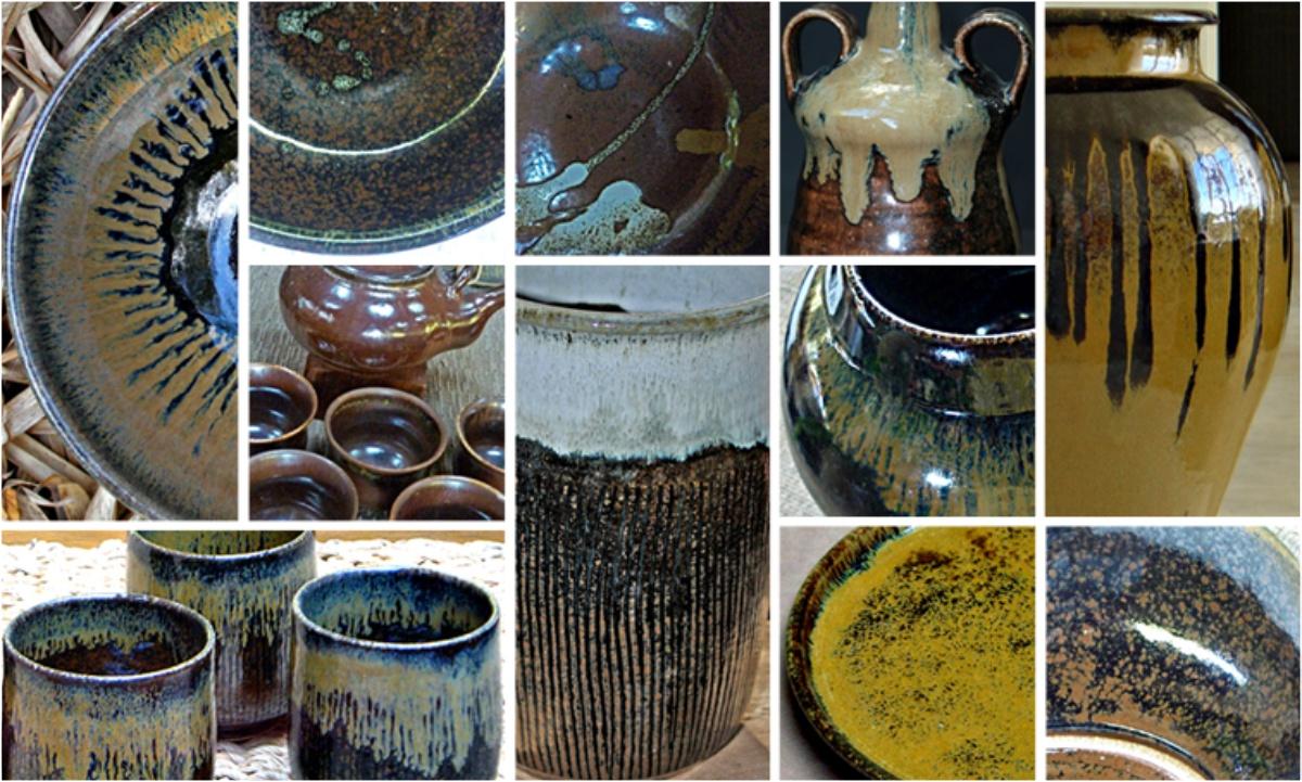 Montagem de fotos exemplificando as variações e tonalidades do Pedra ferro.