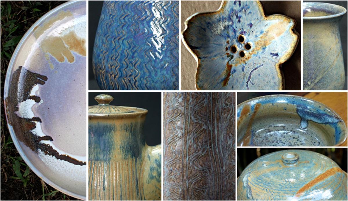 Montagem de fotos exemplificando as variações e tonalidades do esmalte rutilo multicor.