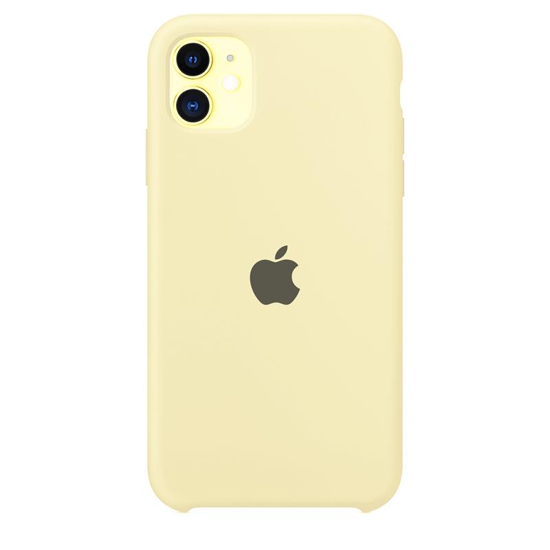 Case Capinha de Silicone Amarelo Claro para iPhone 11
