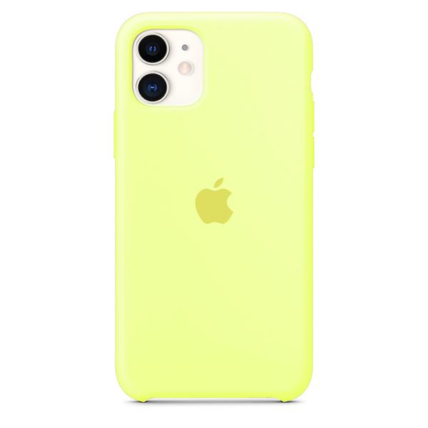 Case Capinha de Silicone Amarelo Neon para iPhone 11