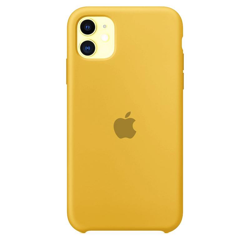 Case Capinha de Silicone Amarela para iPhone 11