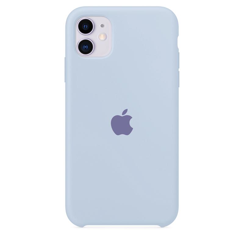 Case Capinha de Silicone Azul Bebê para iPhone 11