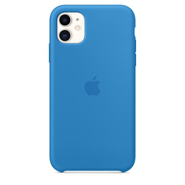 Case Capinha de Silicone Azul Maré para iPhone 11