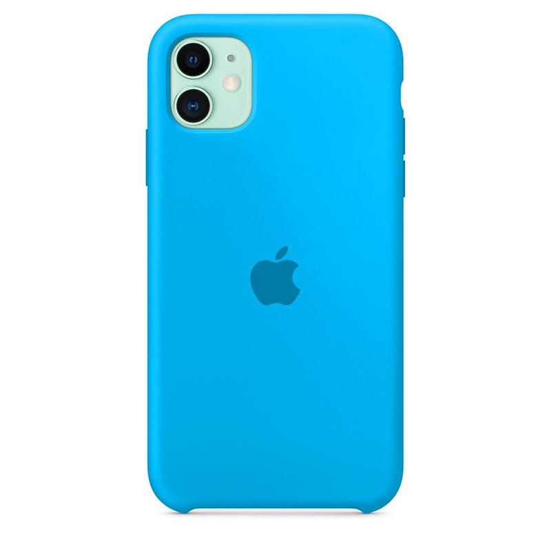 Case Capinha de Silicone Azul Piscina para iPhone 11