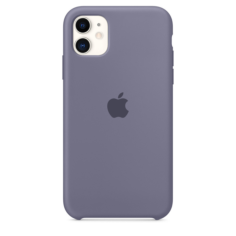 Case Capinha de Silicone Cinza Lavanda para iPhone 11