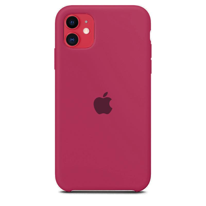 Case Capinha de Silicone Rosa Hibisco para iPhone 11