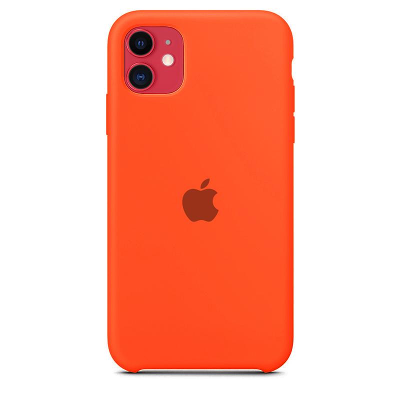 Case Capinha de Silicone Laranja Escuro para iPhone 11