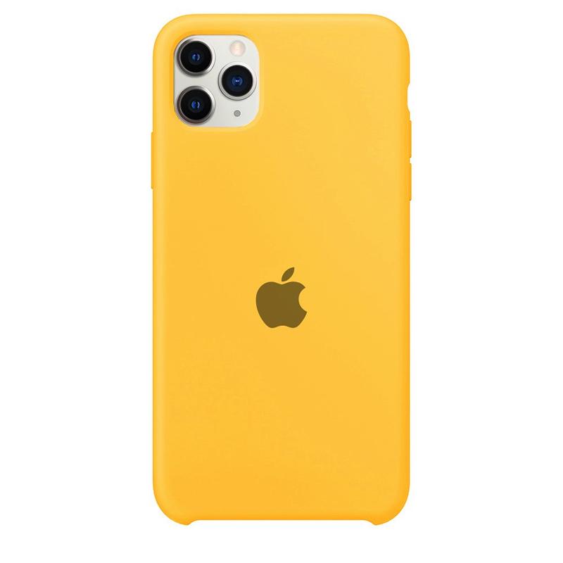 Case Capinha Amarela para iPhone 11 Pro de Silicone