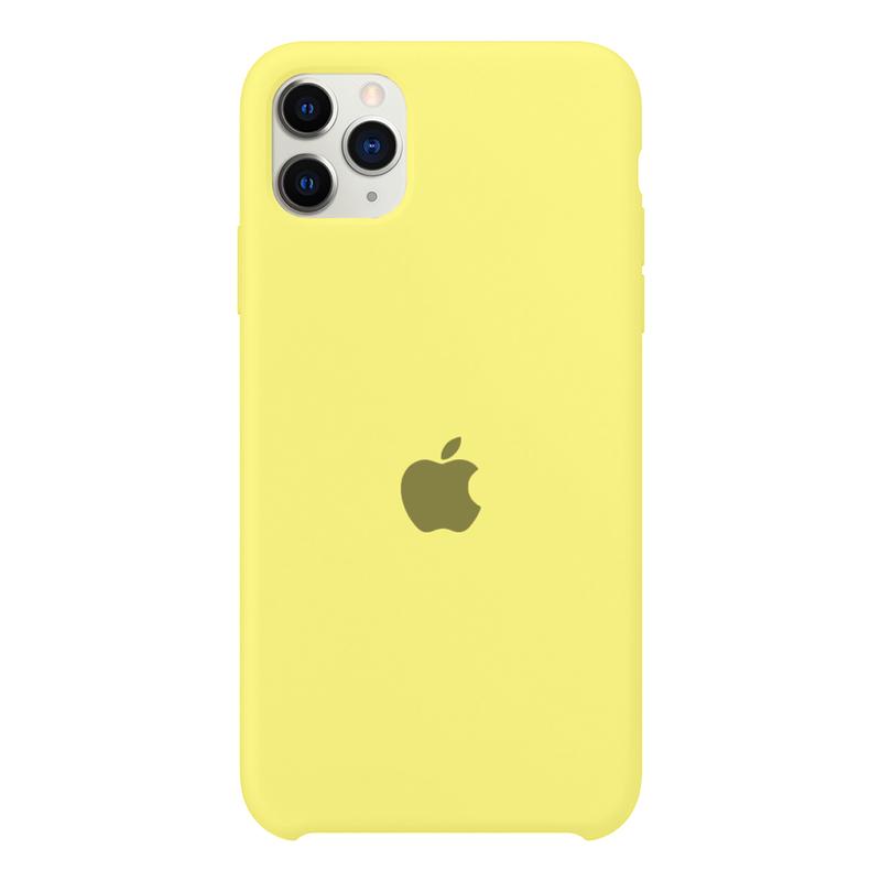 Case Capinha Amarelo Limão para iPhone 11 Pro Max de Silicone