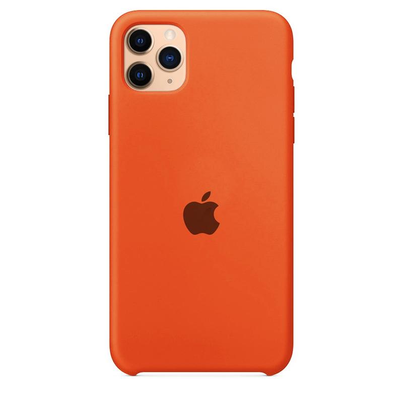 Case Capinha Laranja para iPhone 11 Pro Max de Silicone