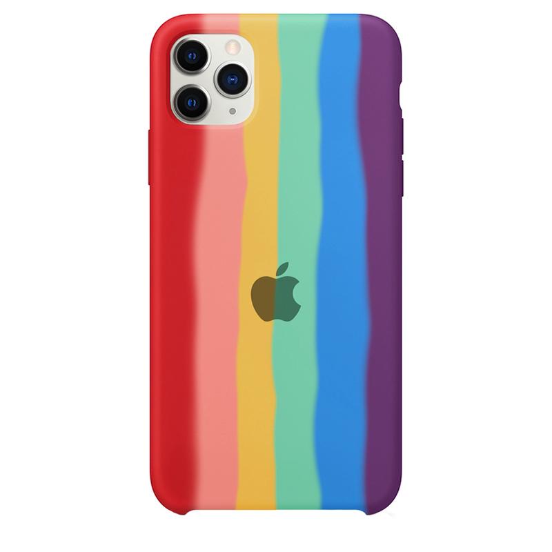 Case Capinha Pride Arco-Íris para iPhone 11 Pro Max de Silicone