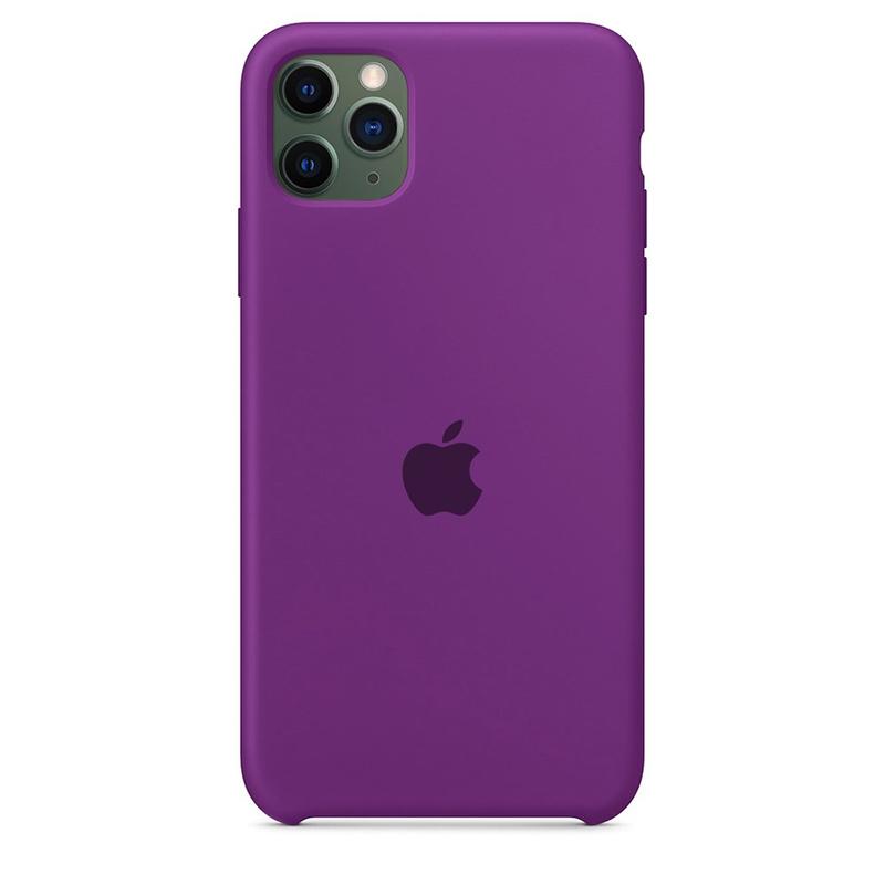 Case Capinha Roxa para iPhone 11 Pro Max de Silicone