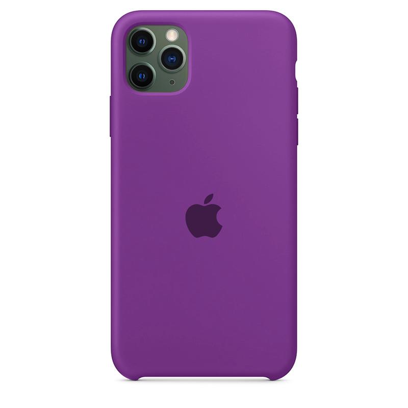 Case Capinha Roxo Claro para iPhone 11 Pro Max de Silicone