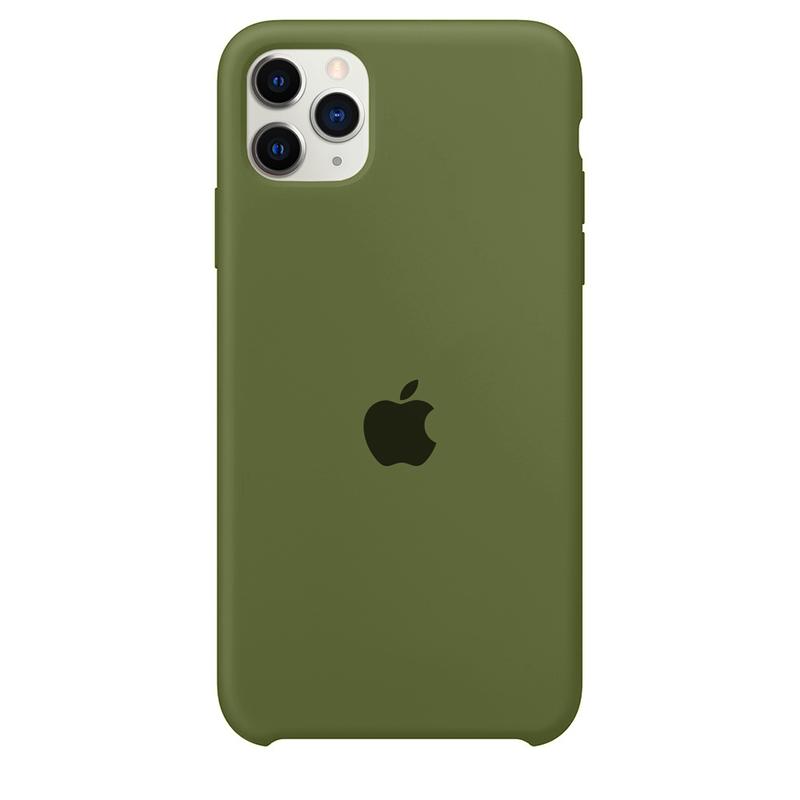 Case Capinha Verde Militar para iPhone 11 Pro Max de Silicone