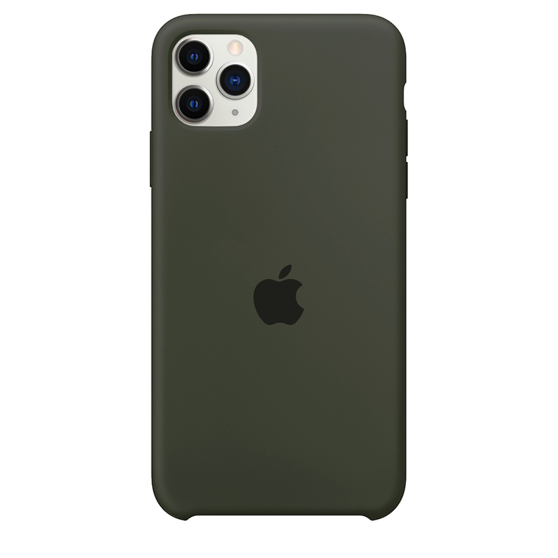 Case Capinha Verde Musgo para iPhone 11 Pro Max de Silicone