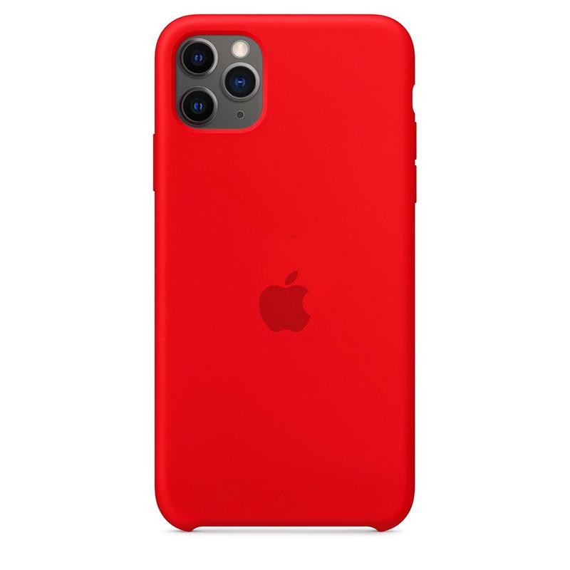 Case Capinha Vermelha para iPhone 11 Pro Max de Silicone
