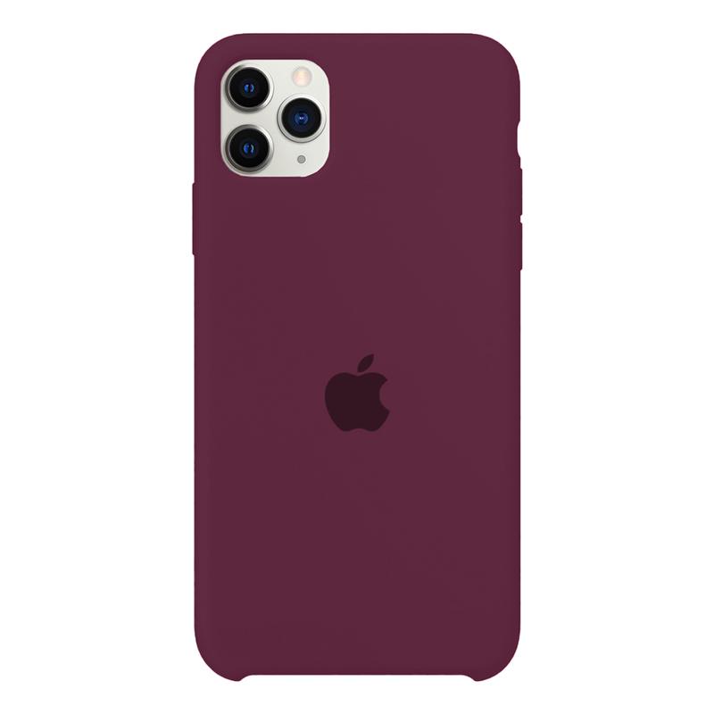 Case Capinha Vermelho Bordô para iPhone 11 Pro Max de Silicone