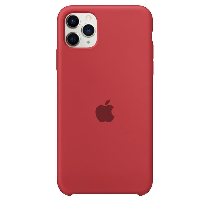 Case Capinha Vermelho Fosco para iPhone 11 Pro Max de Silicone