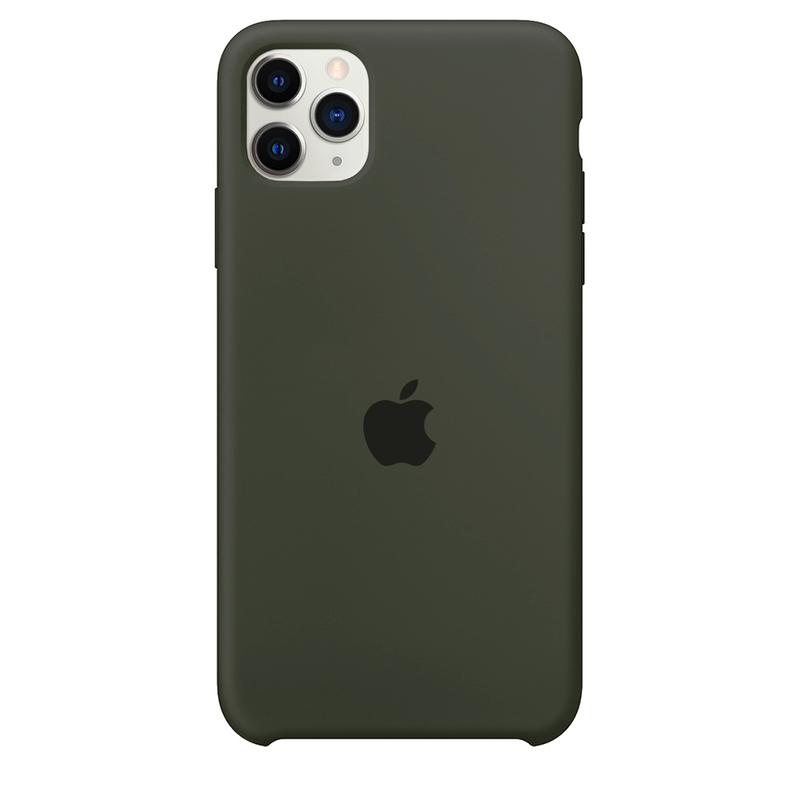 Case Capinha Verde Musgo para iPhone 11 Pro de Silicone